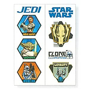 Star wars clone wars temporary tattoo toys for Cheap tattoo kits amazon