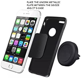 Universal Air Vent Magnetic Car Mount Phone Holder UNCORK Magnetic Mount for Cell Phones and Mini Tablets Silver 4351672925