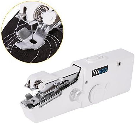 Minimáquina de coser portátil manual + caja con 64 hilos de coser ...