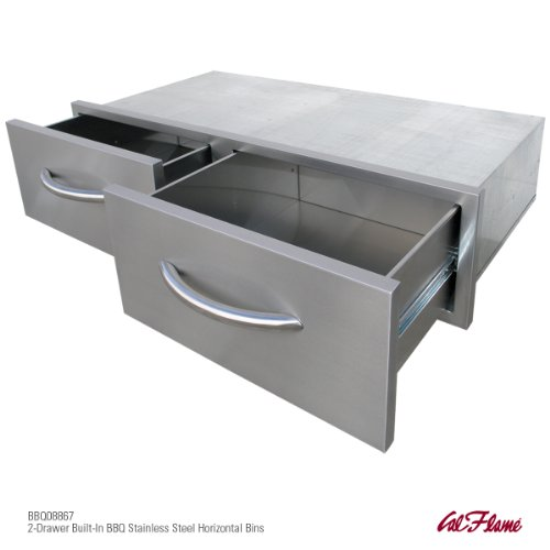 CalFlame BBQ08867-A 2 Drawer Horizontal by Cal Flame (Image #1)