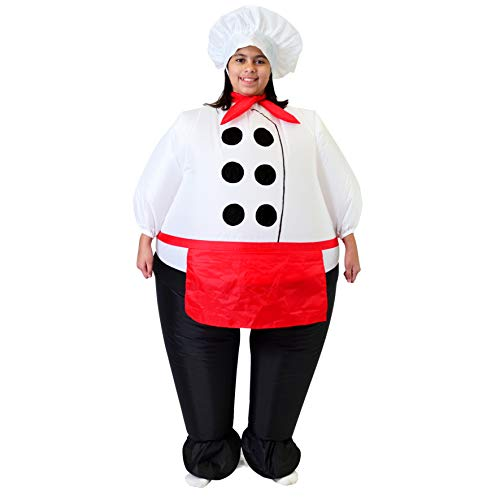 Funny One Year Old Halloween Costumes (Spooktacular Creations Inflatable Costume Air Blow-up Deluxe Chief Cook Costume - Child Size Fits 7-11yr)