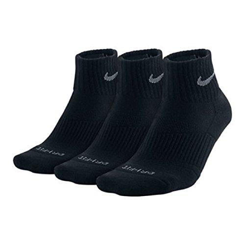 Nike 3PPK Dri-Fit Cushion Quarter Socks #SX4835-001 (M) -