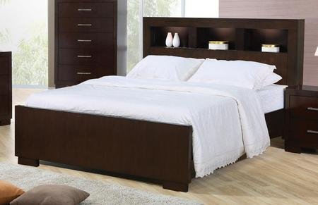Coaster Jessica Collection 200719Q Queen Size Contemporary Bed with Block Feet Solid Woods and Select Veneers in Light (Bedroom Jessica Coaster Collection)