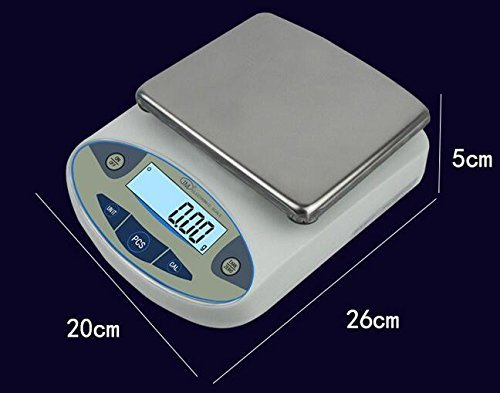 High Precision Lab Analytical Electronic Balance Digital Precision Scale Laboratory Precision Weighing Electronic Scales Balance Jewelry Scales Gold Balance Kitchen Scales (5000g, 0.01g) by CGOLDENWALL (Image #3)
