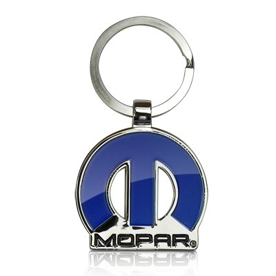 (Dodge Mopar 3D Emblem Key Chain, Official Licensed)