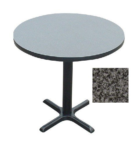 Correll BXT42R-07 Black Granite Top and Black Base Round Bar, Café and Break Room Table, 42″ Review