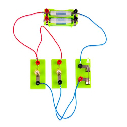 OSOYOO Electricity Science Kit,Series Circuit Parallel Circuit,Education Learning Toys,Science Physical Education Equipment,Learning by Doing, Recommend for Kid Age 3-7 (First lab kit) ()