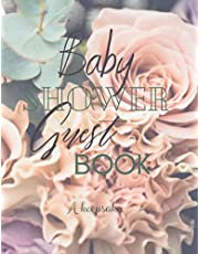 Baby Shower Guest Book Log: A Keepsake. A beautiful gender neutral baby shower guest and memoir book designed for a party of 30 - 40 people.