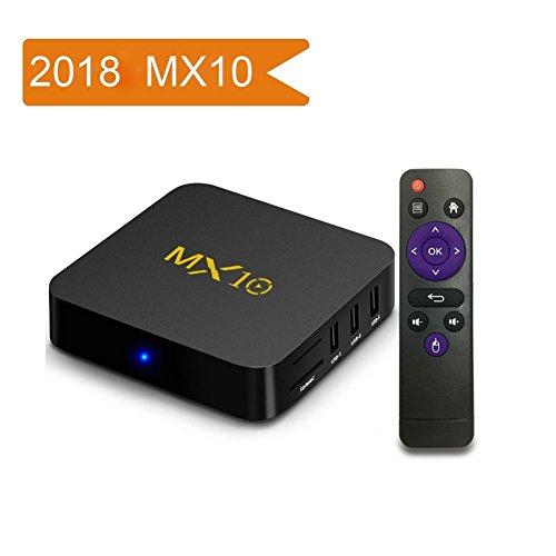 Android 7.1 TV Box, MX10 Smart Intert TV Box With RK3328 Quad Core 64 Bits 4GB RAM 32GB Storage Support 3D/4K/2.4G WiFi/H.265 Gift Box