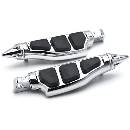 Krator HH013-C Rest (Harley Davidson (All Years) Front & Rear Chrome Stiletto Motorcycle Foot Pegs Left+Right)