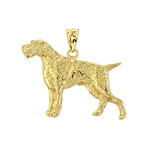 10 ct 471/1000 Or Allemand Pointer- Pendentif