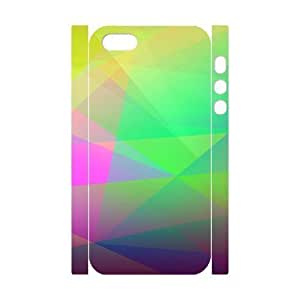 3D For Iphone 5C Phone Case Cover Abstract Colorful Geometry Hard Shell Back White For Iphone 5C Phone Case Cover