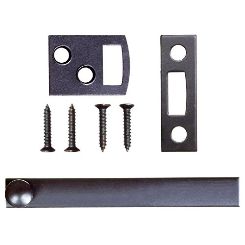 Ram-Pro 3 inch Surface Bolt - window bolt for household surface door bolt Durable flush mounted door bolt in oil-rubbed bronze brass surface latch surface bolts for doors door window (Window Bolt)