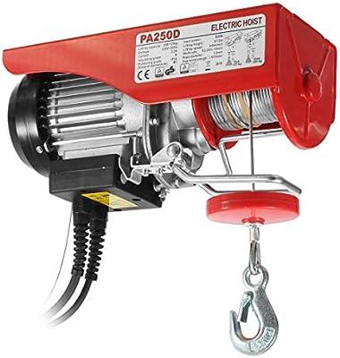 Partsam Polipasto eléctrico 125KG/250kg 550lbs 500W con control ...