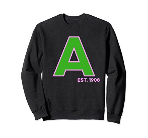 Unisex Alpha Kappa A Established 1908 Sweatshirt Small (Alpha Kappa Alpha Sweater)