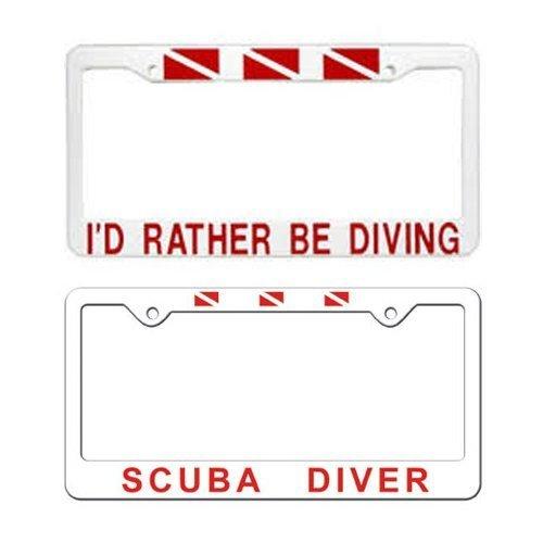 cepts Car License Plate Frame - Scuba Diver - Plastic, AU0105 ()