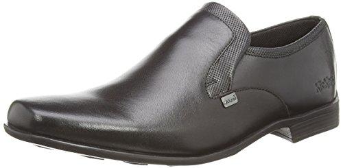 Kickers Ferock Slip2 Lthr Am - Zapatos sin cordones de cuero hombre negro - negro