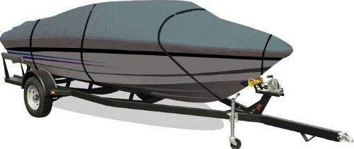 EmpireCovers Aqua Armor Gray Boat Cover: Fits Jumbo Hard Top Gray Boats 16-ft to -