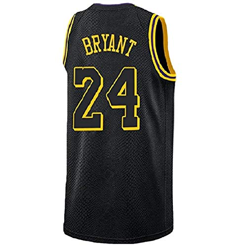 Kobe Bryant Basketball - Juanaet Youth Kobe Jersey Los Angeles 24 Kid's Bryant Jersey Basketball Boy's Black Jersey(S-XL) (L)