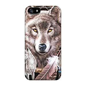Back Cases Covers For Iphone 5/5s - Dreamcatcher Wolf