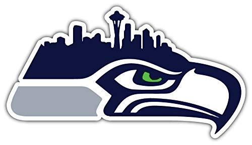 Seahawks Seattle Mascot - Seattle Seahawks NFL Mascot City Car Bumper Sticker Decal 6'' X 3''