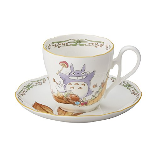 Noritake X Studio Ghibli Neighbor Totoro Mug Cup and Saucer TT97889/4924-3 (Noritake Fine China Japan)