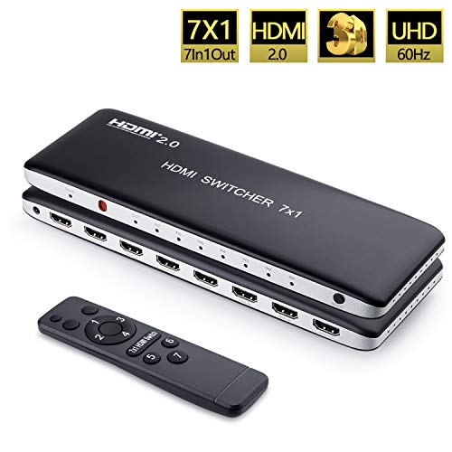 Univivi 7 Port HDMI 2.0 Switch