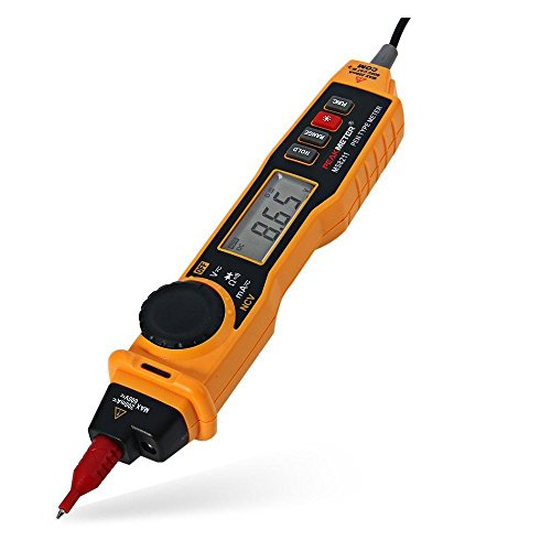 2 in 1 Digital Multimeter and Voltage Tester Pen - 2000 Counts with Non-contact NCV AC/DC Current Voltage Resistance Diode Connectivity Multitester