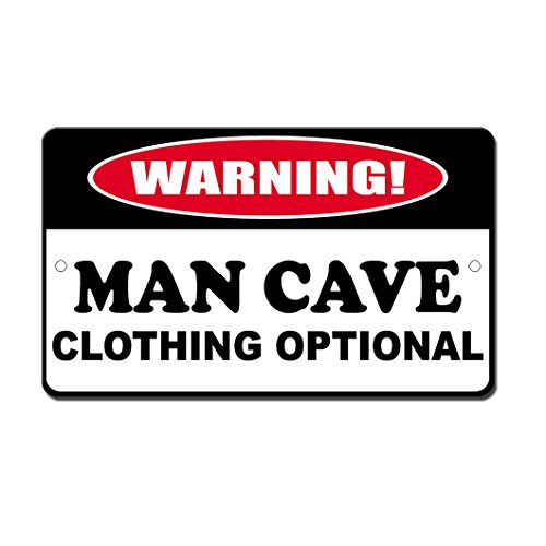 Humor Man Cave Clothing Optional Novelty Funny Sign Vinyl Sticker Decal 8