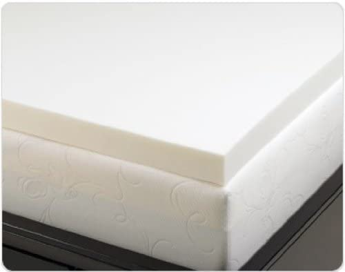 Memory foam solutions 3 inch visco elastic memory foam mattress pad bed topper