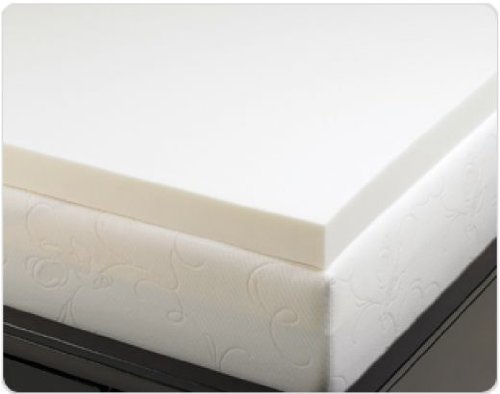 Memory Foam Solutions 3-Inch Thick Visco Elastic Memory Foam Mattress Pad Bed Topper
