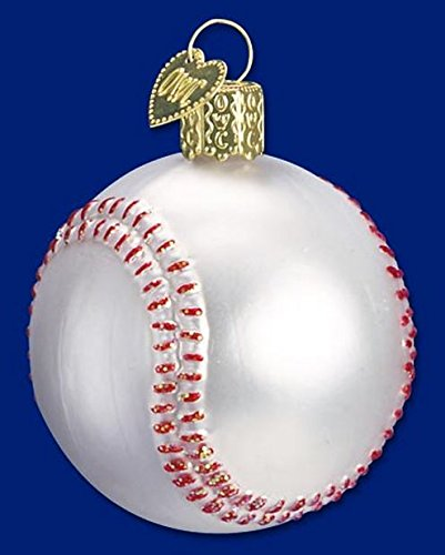 Old World Christmas Baseball Glass Blown Ornament Baseball Christmas Ornaments