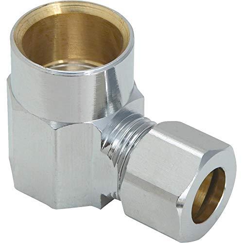 (Plumb Pak/Keeney Mfg 455983 Connector Sweat, 1/2Swx3/8Od Angle Union, 1/2