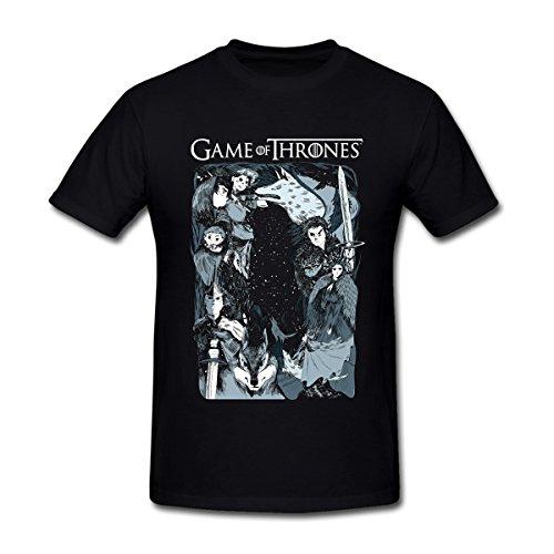 Comic Pattern Game of Thrones T-Shirt for Men XXXL Black