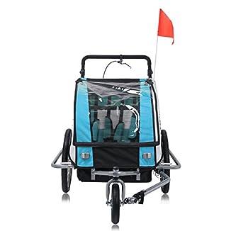 Remolque de bici para niños con kit de footing 5