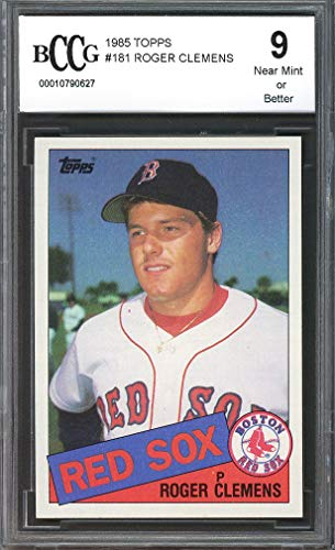 (1985 Topps Roger Clemens #181 Boston Red Sox BGS BCCG 9)