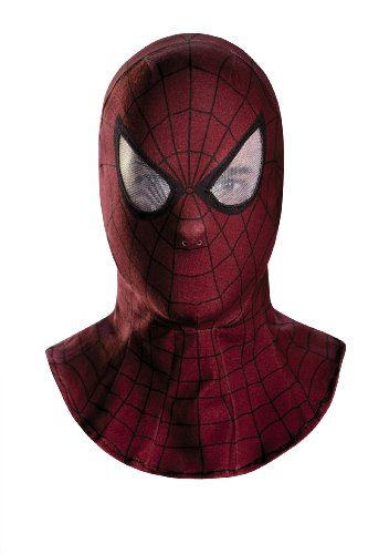 Disguise Men's Marvel The Amazing Movie 2 Spider-Man Adult Fabric Hood, Red/Black, One Size (Mens Black Spiderman Costume)
