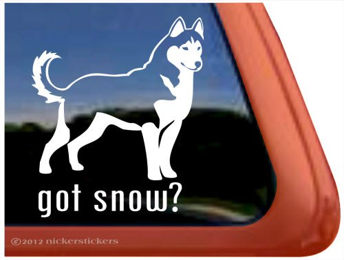 Siberian Husky Vinyl Window Sticker