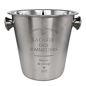 Champanera Classic, acero inoxidable, aprox. 22,5cm, con relieve