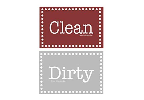 3.5 X 2 Double Sided Dishwasher Flip Clean & Dirty Premium Dishwasher Magnet Made in USA (3.5 X 2 Rectangle Double Sided)
