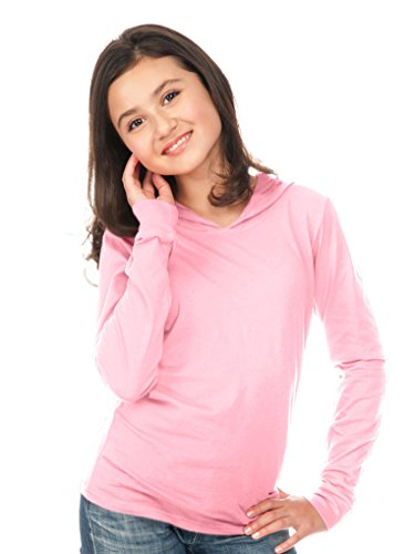 Kavio! Youth Long Sleeve Pullover Hoodie Baby Pink S
