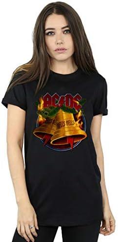 AC/DC Damen Christmas Hells Bells Boyfriend Fit T-Shirt Schwarz XX-Large