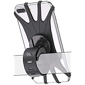Well-Being-Matters 415MOSkd9wL._SS300_ Bovon Bike Phone Mount, 360 Rotation Silicone Bicycle Phone Holder, Universal Motorcycle Handlebar Mount Compatible with…