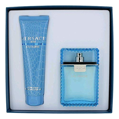 Versace Man Eau Fraiche by Versace, 2 Piece Gift Set for Men