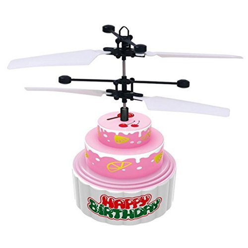 Funny Toy for Kids Baomabao Flying Mini RC Infraed Induction Helicopter Cake Flashing Light Toys For Kids