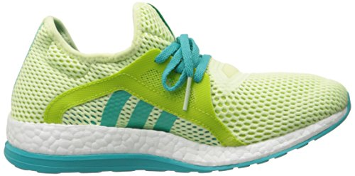 adidas Performance Frauen Pureboost X Laufschuh Halo / Shock Green / Semi Solarschleim