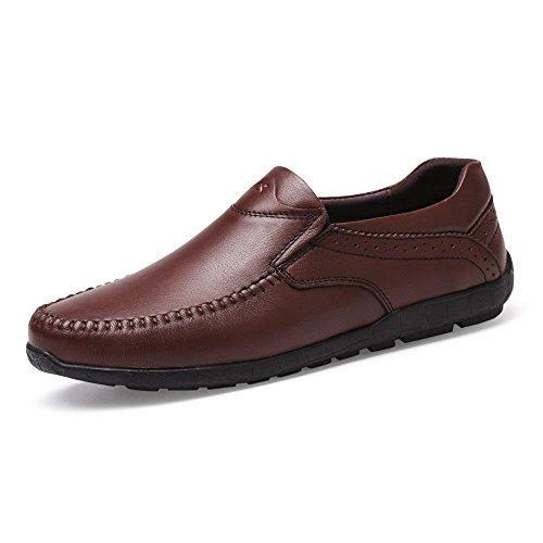 da Mocassini guida uomo on vera Dimensione slip Scarpe EU da shoes 39 leggeri traspiranti Meimei Marrone pelle in Color Mocassini 8vwIqtnxOp