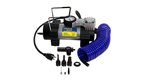 Goodyear Heavy Duty 120 Volt Direct Drive Electric Tire Inflator, Plugs Into Any Standard 120V Wall (Big Twin Motors)