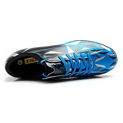 Tiebao Bleu Dur Garçons Junior Sol Hommes de Football Métier Chaussures pour rvrzxqf