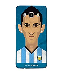 ColorKing Football Dimaria Argentina 04 Blue shell case cover for Samsung J5 2016